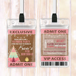 Koa - Slumber Party VIP Lanyard Birthday Invitation