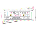 Telina - Movie Ticket Style Invitation