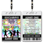Nevada - Disco Dance VIP Lanyard Invitation