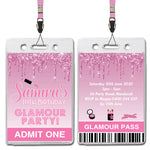 Samira - Glamour Party VIP Lanyard Birthday Invitation