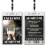 Shane - Bucks Night Bachelor Party VIP Lanyard Birthday Invitation