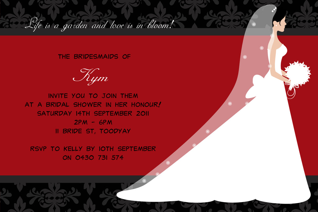 Kym - Bride Bridal Shower Invitation