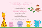 Vicki - Jungle Safari Baby Shower Invitation
