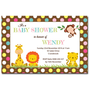 Wendy - Jungle Safari Baby Shower Invitation