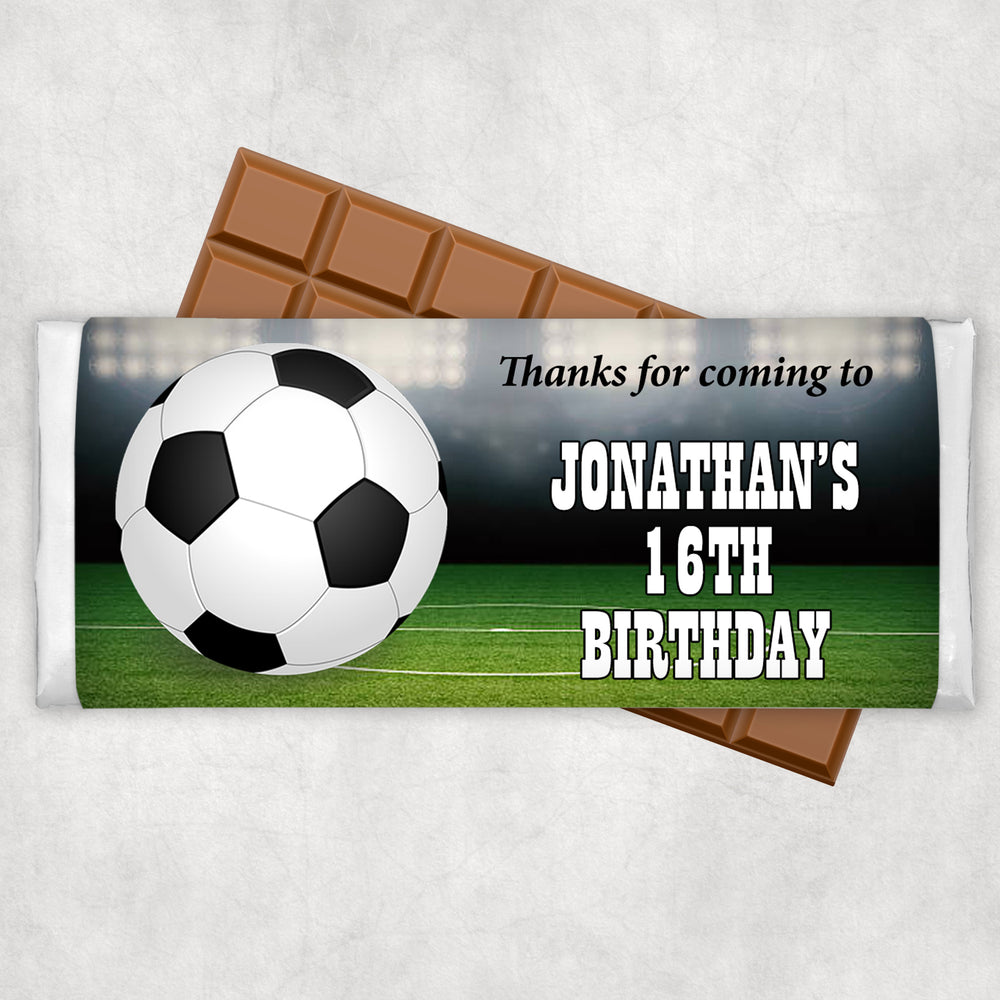 Soccer Themed Chocolate Wrapper