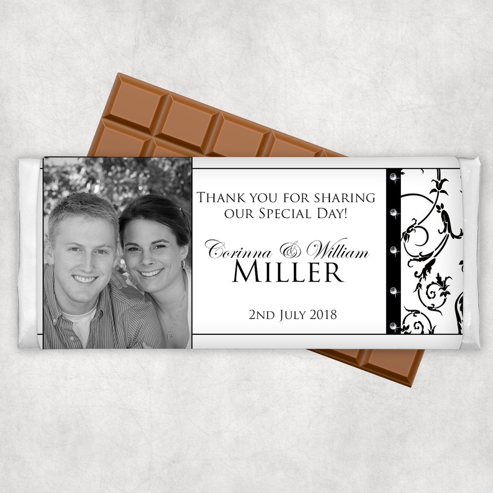 Wedding Engagement Chocolate Wrapper with Photo