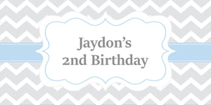 Chevron Striped Birthday Chocolate Wrapper