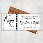 Wedding Engagement Chocolate Wrapper