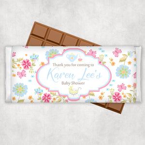 Floral Designed Chocolate Bar