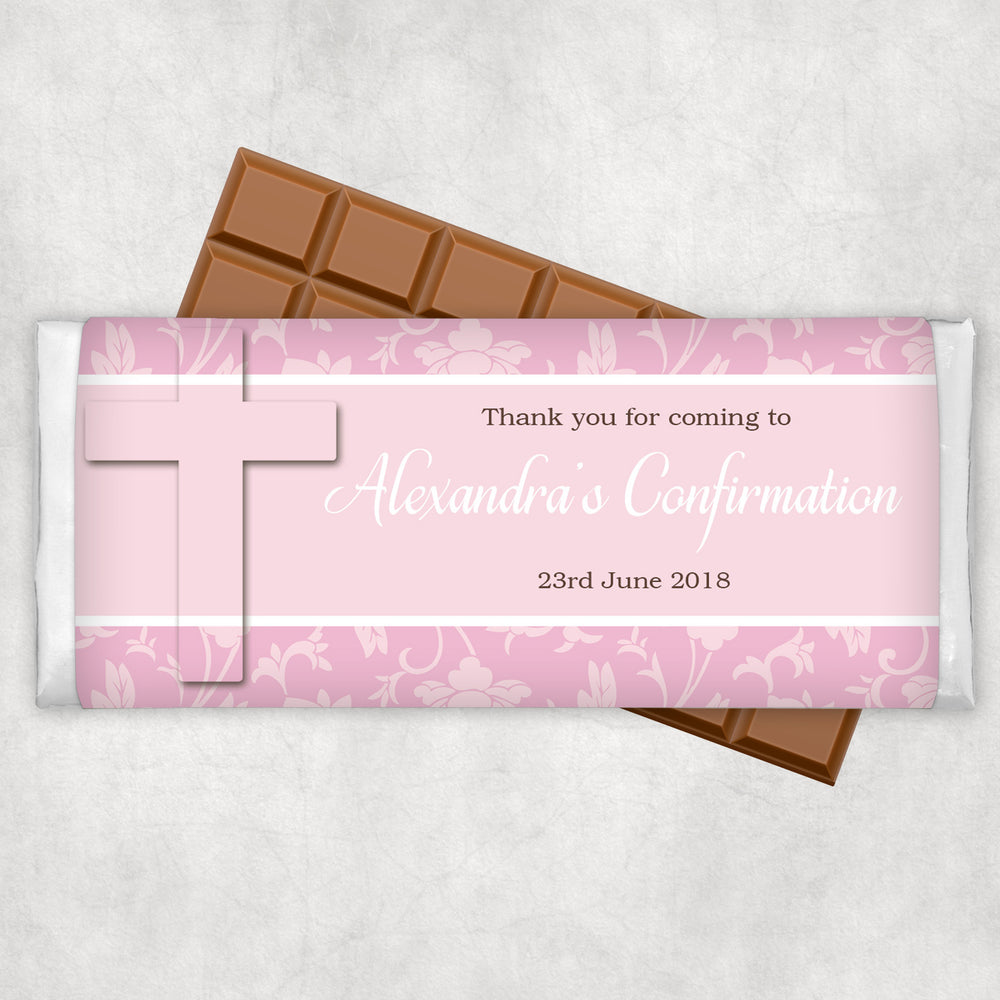 Damask Confirmation Chocolate Wrapper
