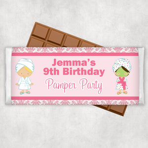 Pamper Spa Party Chocolate Wrappers