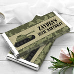 Army Camo Camouflage Personalised Chocolate Wrapper