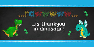Dinosaur Chalkboard Chocolate Wrappers