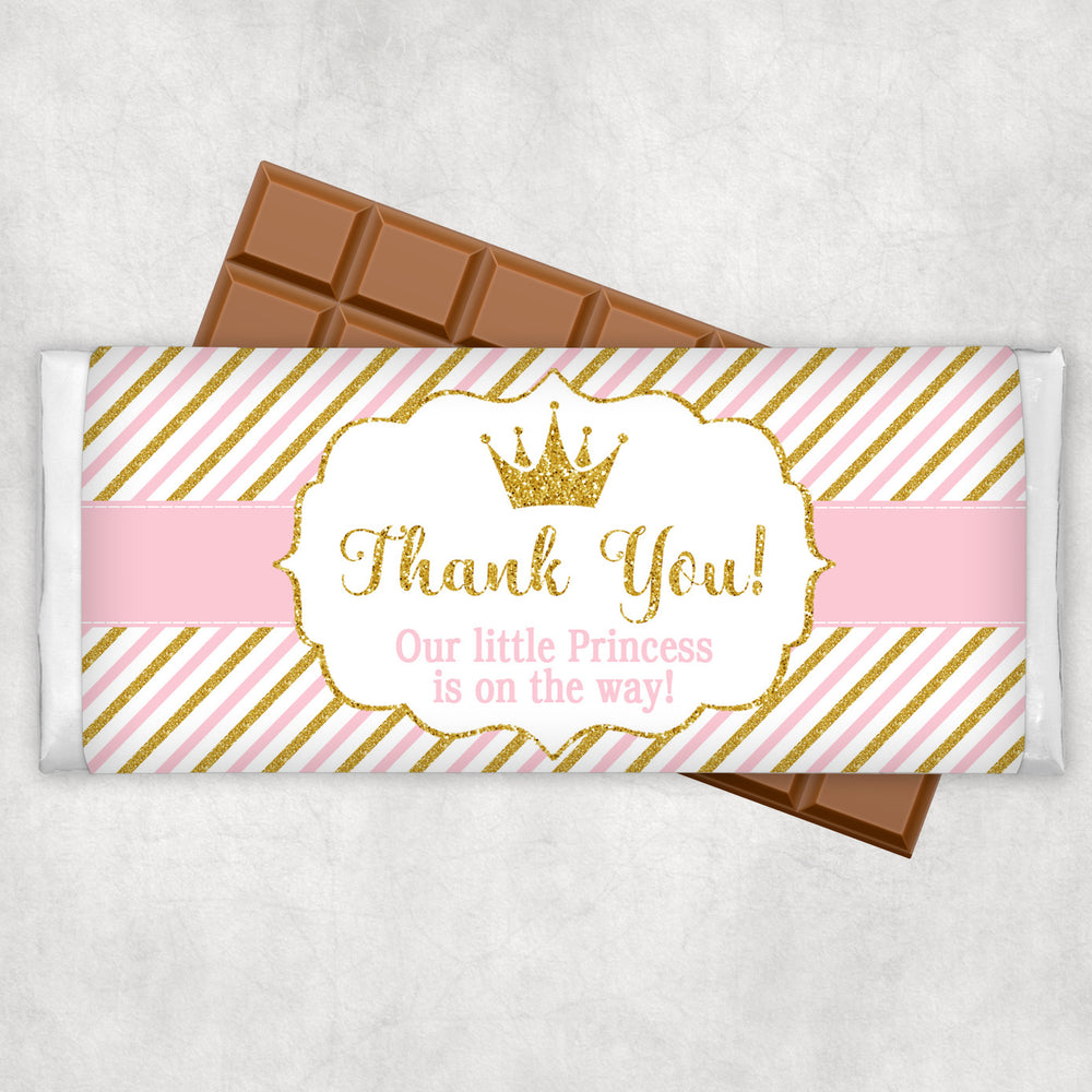 Baby Girl Shower Chocolate Wrapper