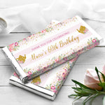 Tea Party Floral Personalised Chocolate Wrapper
