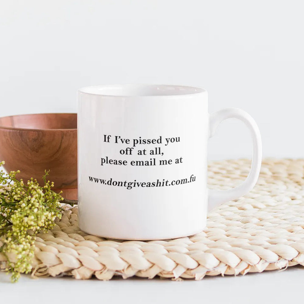 Don't Give A Shit Funny Personalised Ceramic Coffee Tea Mug