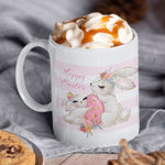 Easter Bunny Rabbit Personalised Ceramic Coffee Tea Mug