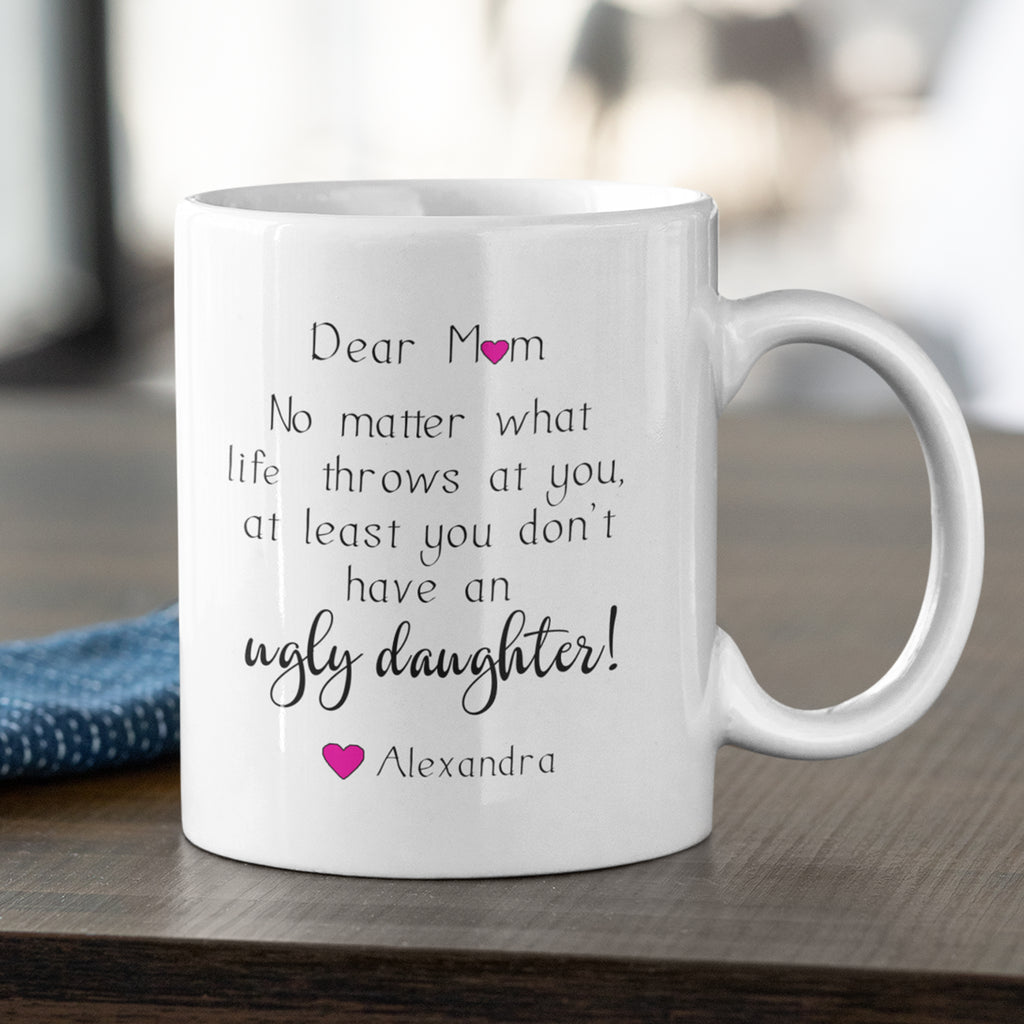 Mother Daughter Personalised Ceramic Coffee Tea Mug
