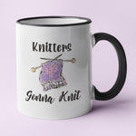 Knitters Gonna Knit Personalised Ceramic Coffee Tea Mug