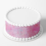Pink Texture Edible Icing Cake Wrap
