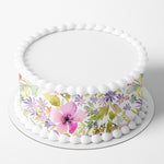 Floral Edible Icing Cake Wrap