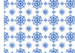 Blue Dutch Styled Tile Pattern Edible Icing Cake Wrap