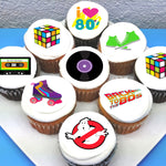 Eighties 80's Inspired Pre-cut Edible Icing Cupcake or Cookie Toppers
