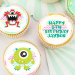 Monsters Edible Icing Cupcake Toppers