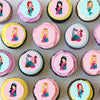 Mermaid Mini Edible Cupcake Toppers