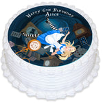 Alice in Wonderland Round Edible Cake Topper