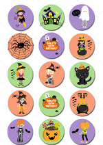 Halloween Pre-cut Edible Icing Cupcake or Cookie Toppers