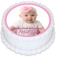 Round Edible Cake Topper with Photo
