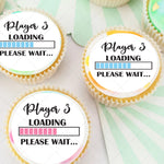 Player 3 Loading Baby Pre-cut Edible Icing Cupcake or Cookie Toppers