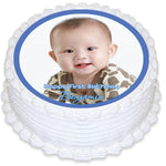 Photo Personalised Round Edible Icing Cake Topper