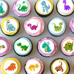 Dinosaur Mini Edible Cupcake Toppers