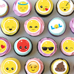 Emoji Mini Edible Cupcake Toppers