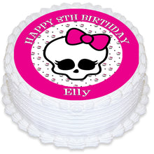 Monster High Skull Round Edible Cake Topper