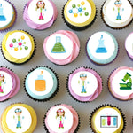 Science Mini Edible Cupcake Toppers