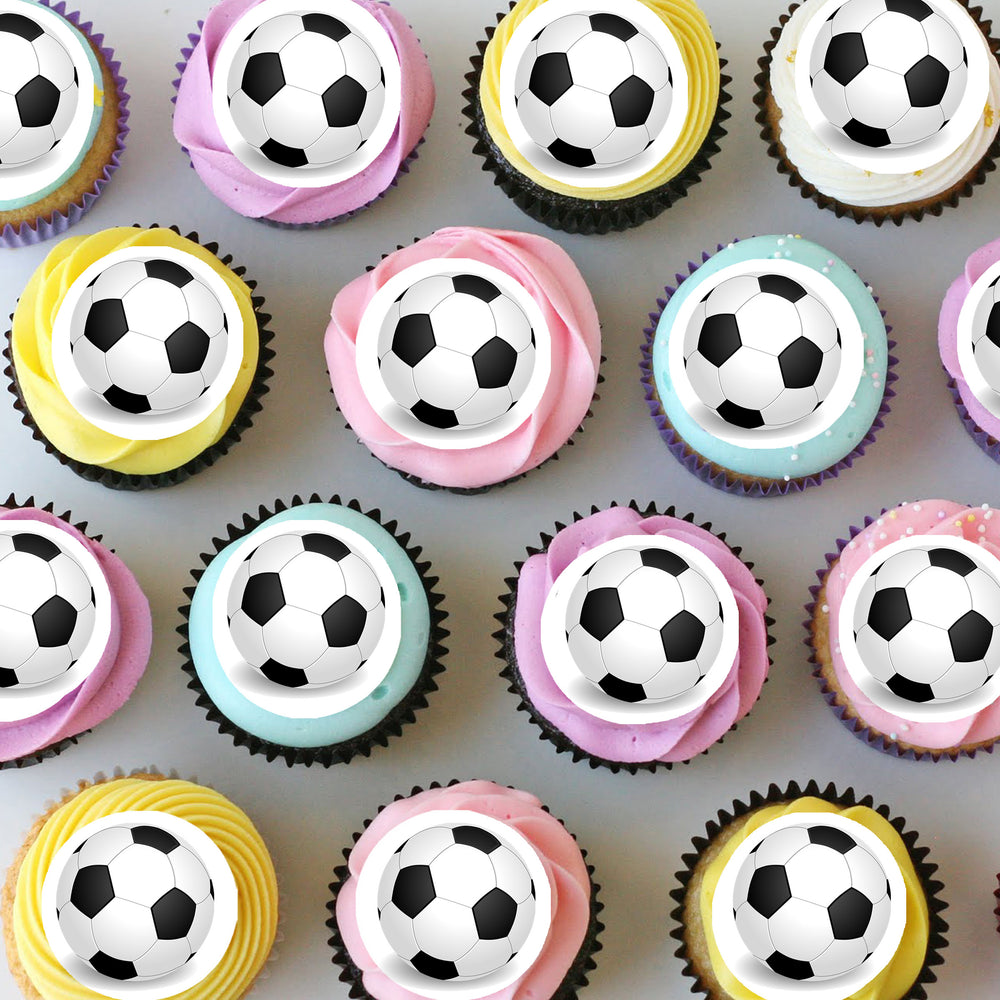 Soccer Mini Edible Cupcake Toppers