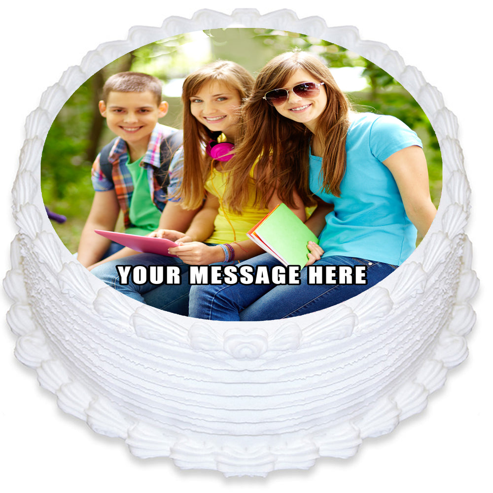 Round Edible Cake Topper with your own Image