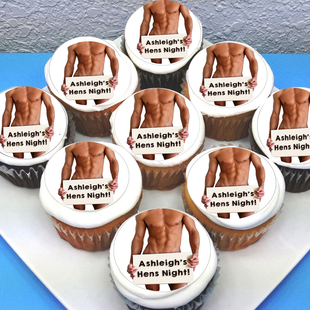 Hens Night Edible Cupcake Toppers