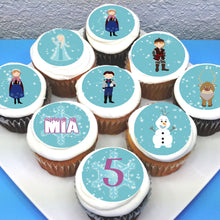 Frozen Themed Edible Cupcake Toppers