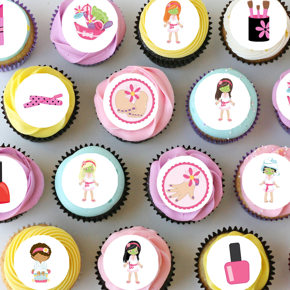 Pamper Spa Party Mini Edible Cupcake Toppers