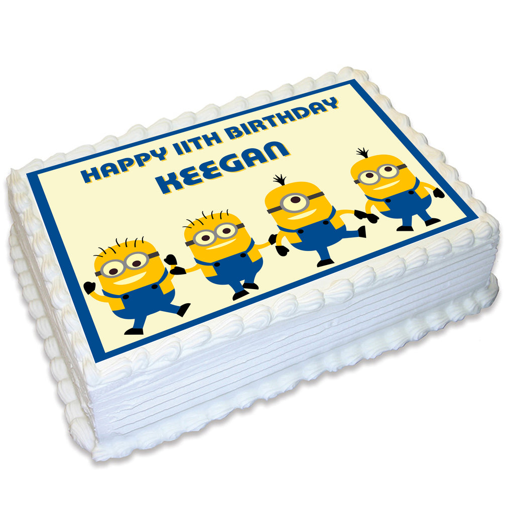 Minions Rectangle Edible Cake Topper