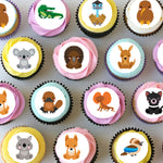 Aussie Australian Animals Pre-cut Mini Edible Icing Cupcake or Cookie Toppers