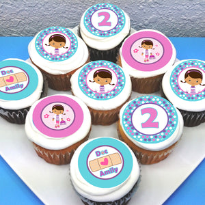 Doc McStuffins Edible Cupcake Toppers