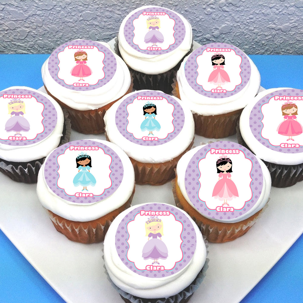 Princess Edible Cupcake Toppers