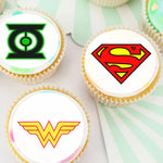Superhero Logo Edible Cupcake Toppers