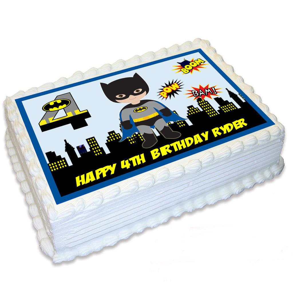Batman Rectangle Edible Cake Topper