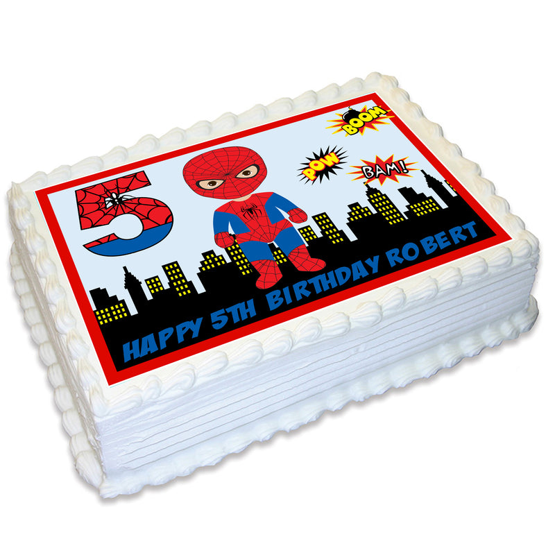 Spiderman A4 Edible Cake Topper